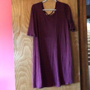 3/4 sleeve knee-length dress
